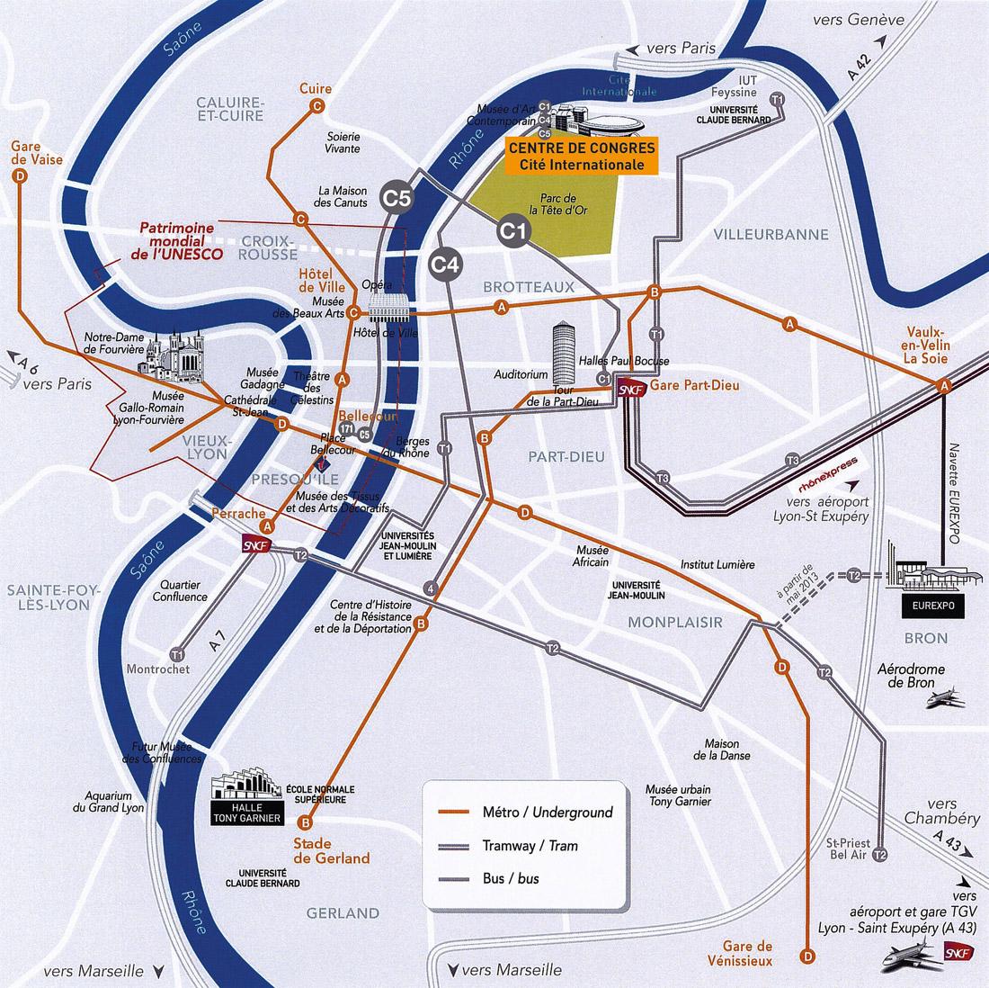 Plan d'accès au congrès AER